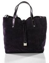Tiffany & Co. Purple Suede Leather Small Tote Handbag
