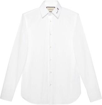 Gucci Poplin shirt with flower fil