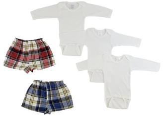 Bambini Infant Long Sleeve Onezies and Boxer Shorts