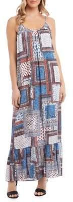 Karen Kane Paisley Ruffle-Hem Maxi Dress
