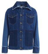 McQ by Alexander McQueen Denim Oversize Jacket Indigo Patchwork
