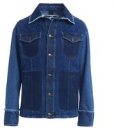 McQ by Alexander McQueen Giacca Oversize In Denim Indaco Patchwork