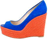 Brian Atwood Colorblock Espadrille Wedges