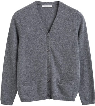 Chinti and Parker Grey Cashmere Cardigan