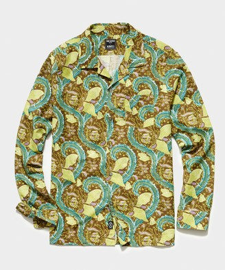 Todd Snyder Italian Camp Collar Long Sleeve Shirt in Paisley Print