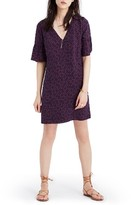 Madewell Women's Painted Clover Silk Bell Sleeve Dress