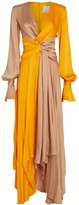 Acler Empire Two-Tone Twisted Maxi Dress