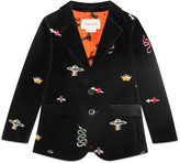 Gucci Baby velvet jacket with embroidery details