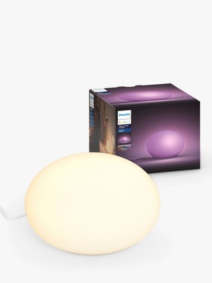 Philips Hue White and Colour Ambiance Flourish Table Lamp, White