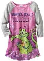 Komar Kids Girls 2-6X Where's My Water Long Sleeve Disney Gown