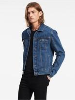 Calvin Klein Mid-Blue Denim Trucker Jacket