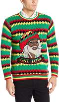 Blizzard Bay Men's One Love Rasta Ugly Christmas Sweater