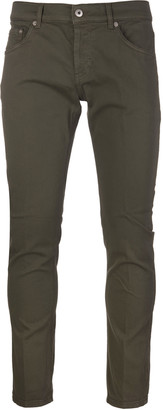 Dondup Army Green Low Rise Slim-fit Mius Man Jeans