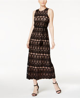 Jessica Howard Open-Back Lace Maxi Dress