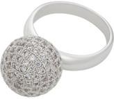 Gregory Ladner Ring Cz Ball Micro Setting Rhodium