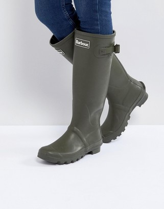 Barbour Bede classic welly boot with tartan lining