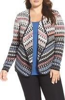 Nic+Zoe Plus Size Women's Flashing Lights Open Cardigan