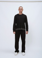 Our Legacy black embroidered stripes army jersey box longsleeve