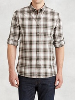 John Varvatos Cotton Rolled Sleeve Shirt