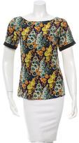 Vena Cava Silk Floral Print Top