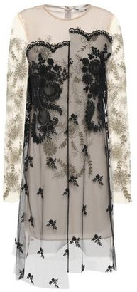 Stella McCartney Lace-trimmed Layered Embroidered Tulle Dress