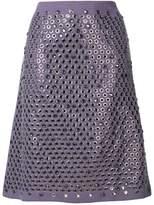 Bottega Veneta eyelet embellished skirt
