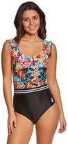 Body Glove Women's Wonderland Holly Cap Sleeve One Piece Swimsuit 8151452