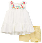 Jessica Simpson Floral Tank & Short 2-Piece Set (Baby Girls)