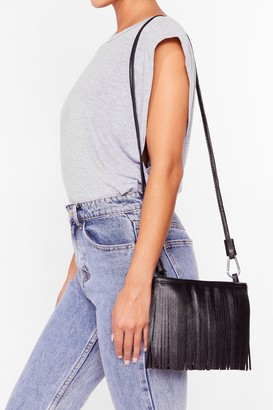 Nasty Gal Womens WANT Sway of Life Fringe Crossbody Bag - Black - One Size