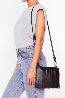 Nasty Gal Womens WANT Sway of Life Fringe Crossbody Bag - Black