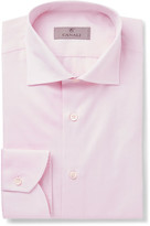 Canali Pink Slim-Fit Cotton-Twill Shirt