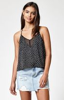 KENDALL + KYLIE Kendall & Kylie Chiffon Inset Cami Tank Top