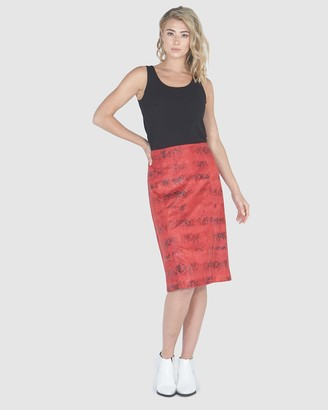 Privilege Women's Red Pencil skirts - Pencil Skirt - Size One Size, 10 at The Iconic