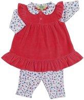 Kissy Kissy QT Cherry Blossom Dress w/ Legging (Baby)-Fuchsia-12-18 Months