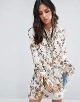 Free People So Fine Smocked Tunic Blouse