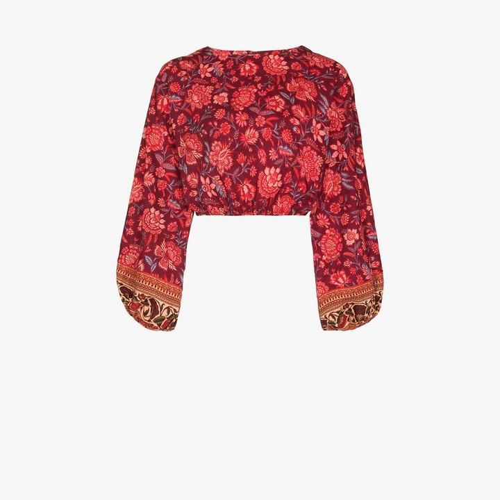 BOTEH Petra floral cropped blouse