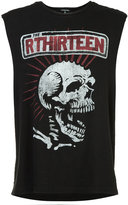 R 13 skull print sleeveless T-shirt - men - Cotton/Polyurethane - M
