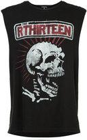 R 13 skull print sleeveless T-shirt