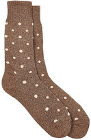 Barneys New York Men's Dotted Mid-Calf Socks-TAN