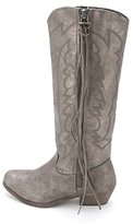 Rampage Women's Telula Fabric Almond Toe Ankle Cowboy Boots
