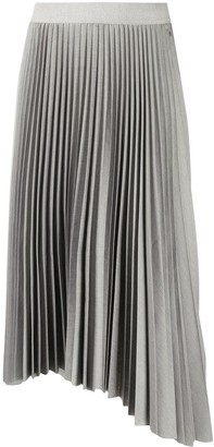 Fabiana Filippi Asymmetric Pleated Midi Skirt