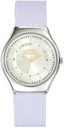 Miss Trendy Girls Analogue Quartz Watch with Nylon Strap KL354
