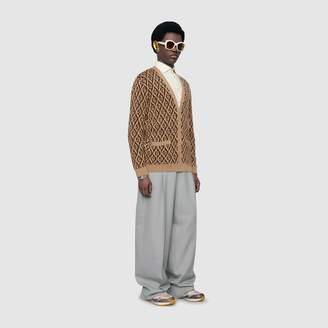 Gucci G rhombus wool cardigan