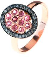 Latelita London - Diamond Pink Tourmaline Oval Ring