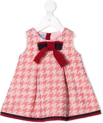 Mi Mi Sol Sleeveless Houndstooth Pattern Dress