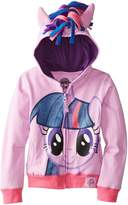 My Little Pony Big Girls' Twilight Sparkle Hoodie, Purple Multi, 7/Small