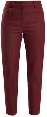 Isa Arfen High-rise Slim-leg Jeans - Womens - Burgundy
