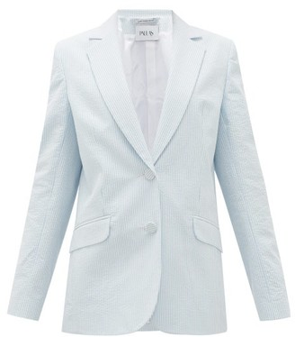 Pallas Paris - Gelato Striped Cotton-seersucker Jacket - Blue White