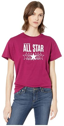 Converse Chuck Taylor All Star Relaxed Star Graphic T-Shirt (Rose Maroon) Women's T Shirt