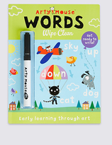 Marks and Spencer Arty Mouse Words Wipe Clean Book